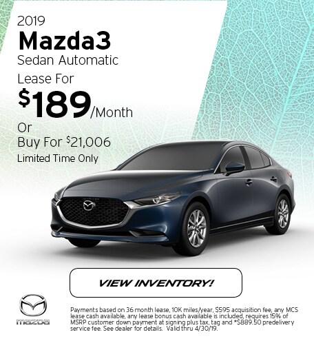 2019 Mazda3 Sedan Automatic