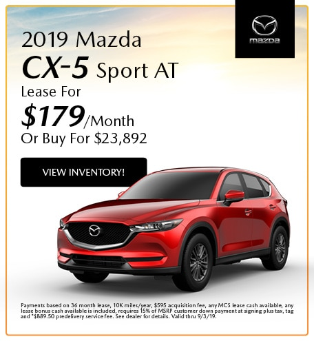 2019 Mazda CX-5 Sport AT Lease- August