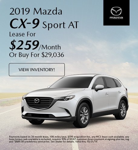 2019 Mazda CX-9 Lease