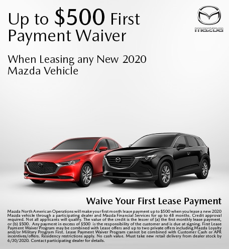 2020 Mazda First Payment Waiver