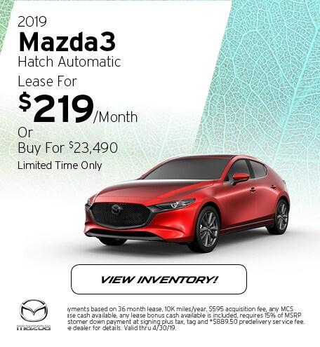 2019 Mazda3 Hatch Automatic