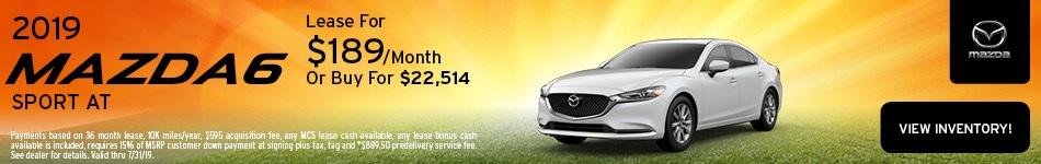 2019 Mazda6 Lease- July