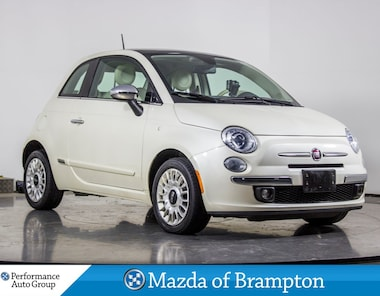 2012 Fiat 500 Lounge. NAVI. ROOF. BLUETOOTH. LEATHER Hatchback