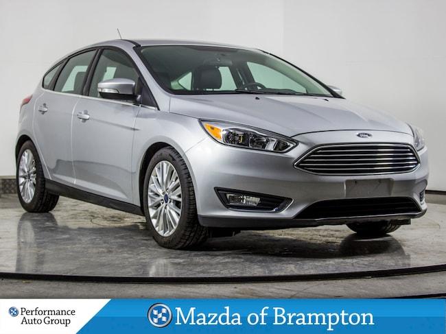 2015 Ford Focus TITANIUM. NAVI. CAMERA. LEATHER. HTD SEATS Hatchback