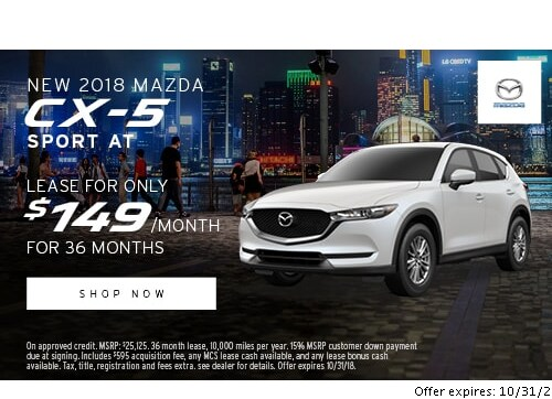 Mazda Of Milford New Car Specials