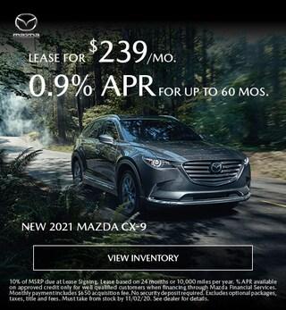 New 2021 Mazda CX-9 - October 2020