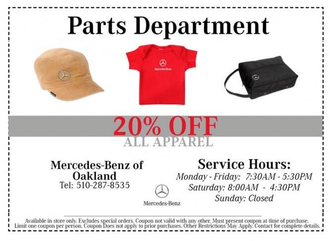Auto parts specials oakland oakland serving alameda for Mercedes benz walnut creek coupons