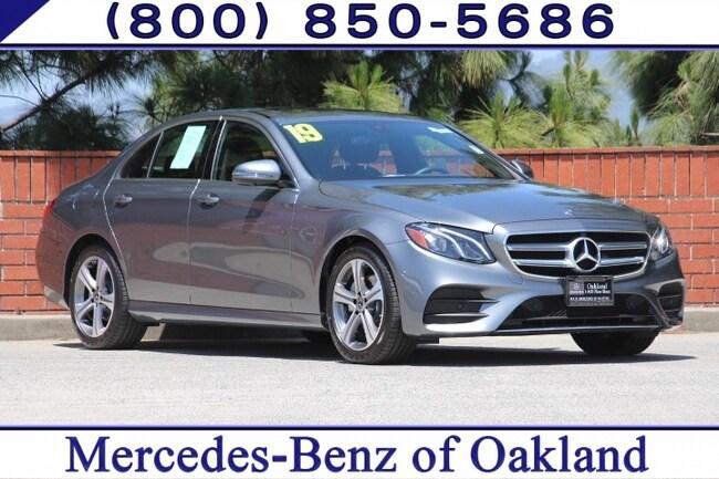 Certified 2019 Mercedes-Benz E-Class E 300 4D Sedan Sedan for sale in Oakland, CA at Mercedes-Benz of Oakland