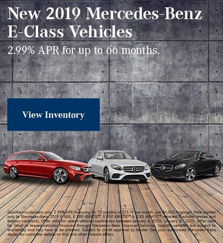 January New 2019 Mercedes-Benz E-Class Vehicles Finance Offer