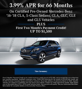 February 3.99% APR for 66 Months CPO Offer