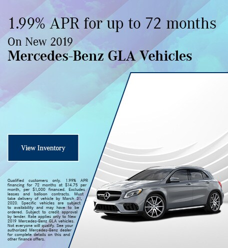 March New 2019 Mercedes-Benz GLA Finance Offer