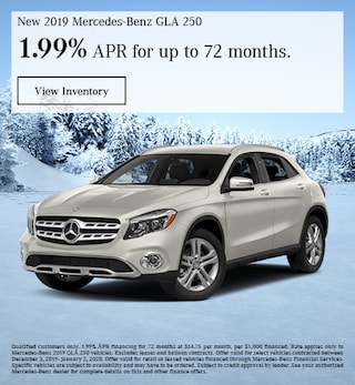 December New 2019 Mercedes-Benz GLA 250 Finance Offer