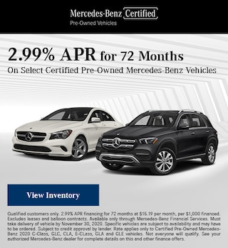 November 2.99% APR for 72 Months Offer