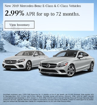 December New 2019 Mercedes-Benz E-Class & C-Class Vehicles Finance Offer