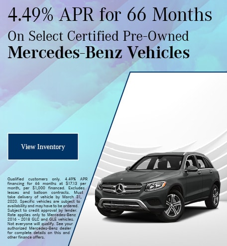 March Select Certified Pre-Owned Mercedes-Benz Finance Offer #2