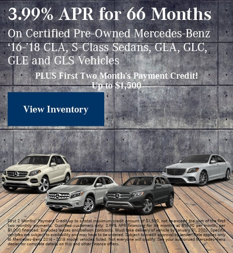 January 3.99% APR for 66 Months CPO Offer
