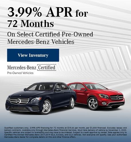 October 3.99% APR for 72 Months Offer