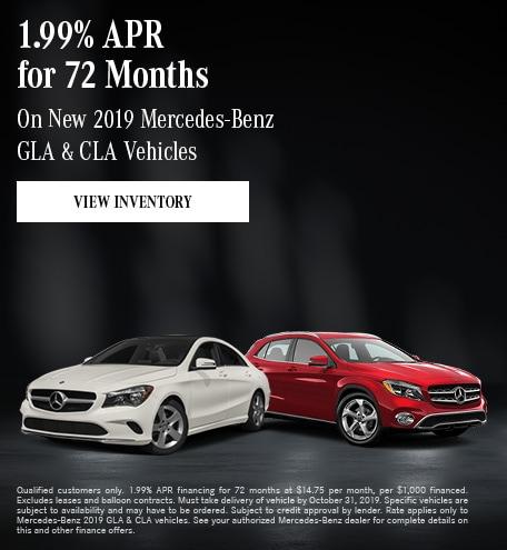 October New 2019 Mercedes-Benz GLA & CLA Vehicles Offer