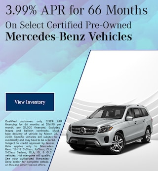 March Select Certified Pre-Owned Mercedes-Benz Vehicles Finance Offer