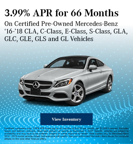 November 3.99% APR for 66 Months CPO Offer
