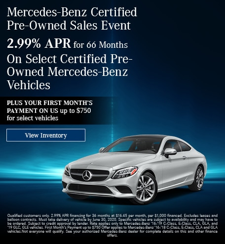 June Mercedes-Benz Certified Pre-Owned Sales Event - 2.99% Offer