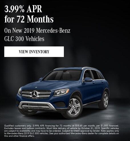 October New 2019 Mercedes-Benz GLC 300 Vehicles Offer
