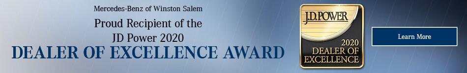 JD Power Dealer of Excellence Award