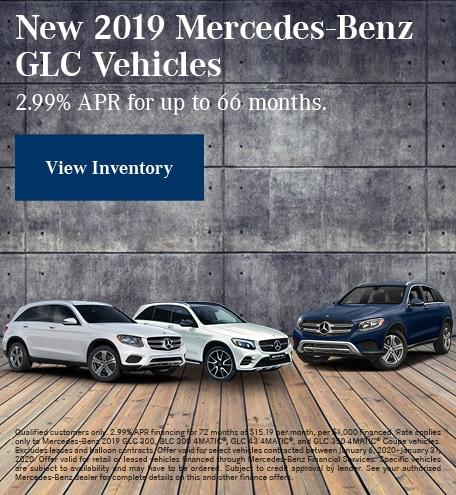 January New 2019 Mercedes-Benz GLC Vehicles Finance Offer