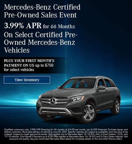 June Mercedes-Benz Certified Pre-Owned Sales Event - 3.99% Offer