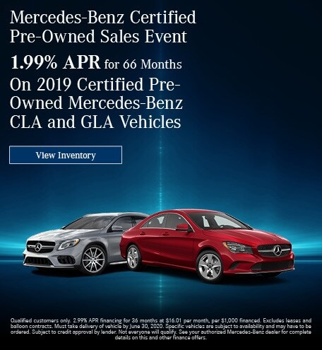 June Mercedes-Benz Certified Pre-Owned Sales Event - CLA & GLA Offer