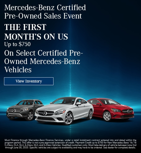 June Mercedes-Benz Certified Pre-Owned Sales Event - First Month's Offer