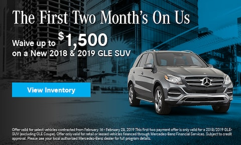2018 - 2019 GLE SUV First 2 Months Offer