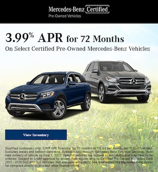 May 3.99% APR for 72 Months Offer