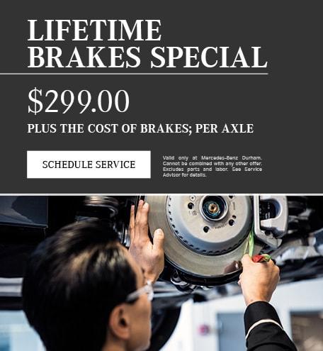 Lifetime Brakes Specials
