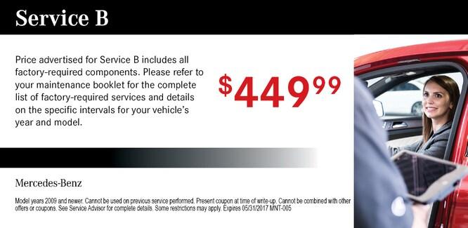 Auto service coupons car service santa clarita for Mercedes benz service b specials
