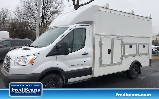 2018 Ford Transit-350 Cutaway 12 ft Enclosed Service Utility Body Truck 4x2