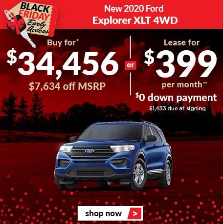 New 2020 Ford Explorer XLT 4WD