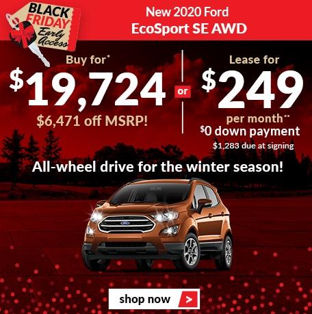 New 2020 Ford EcoSport SE AWD
