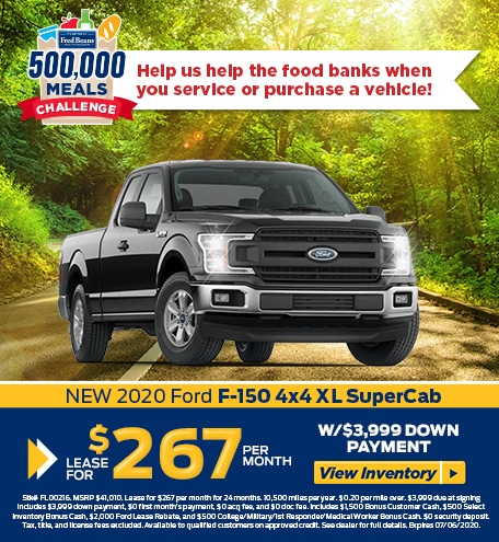 Lease a 2020 Ford F-150 XL for $267/mo for 24 months!
