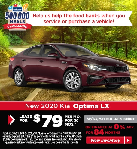 Buy a 2020 Kia Optima LX for $199/mo for 84 months at 0% APR!