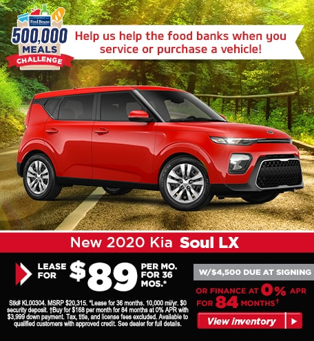 Buy a 2020 Soul LX for $168/mo for 84 months at 0% APR!