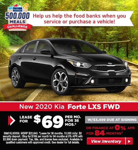 Buy a 2020 Kia Forte LXS for $189/mo for 84 months at 0% APR!