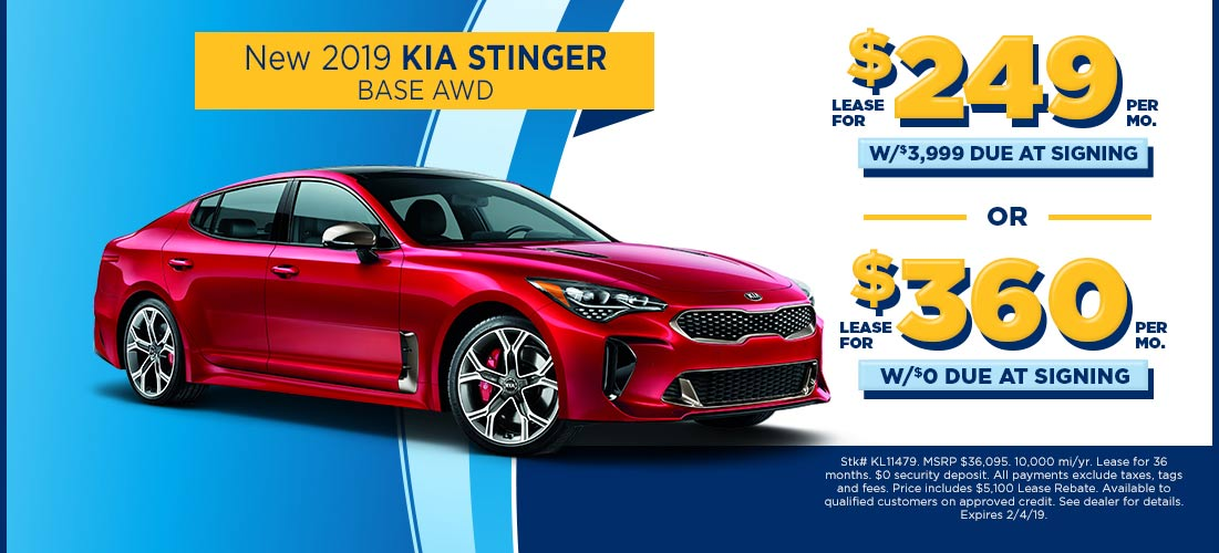 2019 Kia Stinger For 249 Mo At Fred Beans Kia Of Langhorne Fred