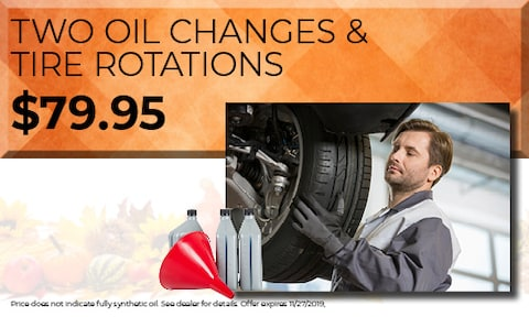 TWO OIL CHANGES & TIRE ROTATIONS