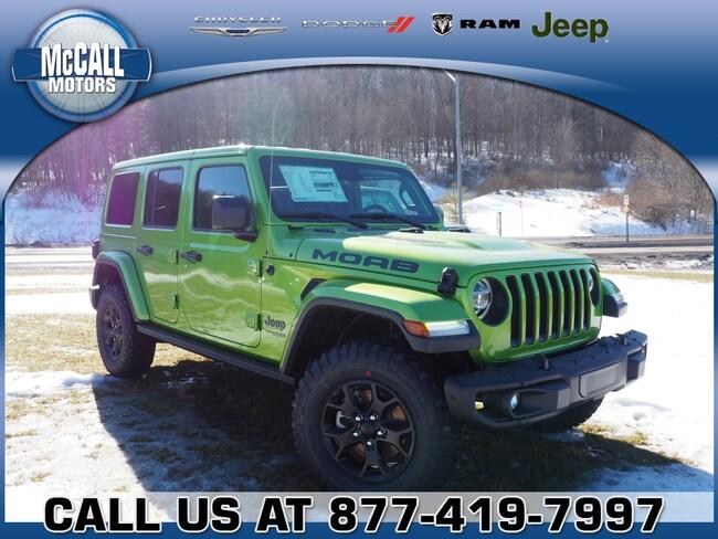 New 2019 Jeep Wrangler UNLIMITED MOAB 4X4 Sport Utility Altoona PA