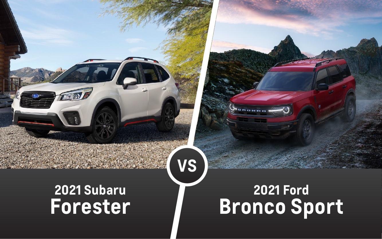 2021 Subaru Forester vs. 2021 Ford Bronco Sport