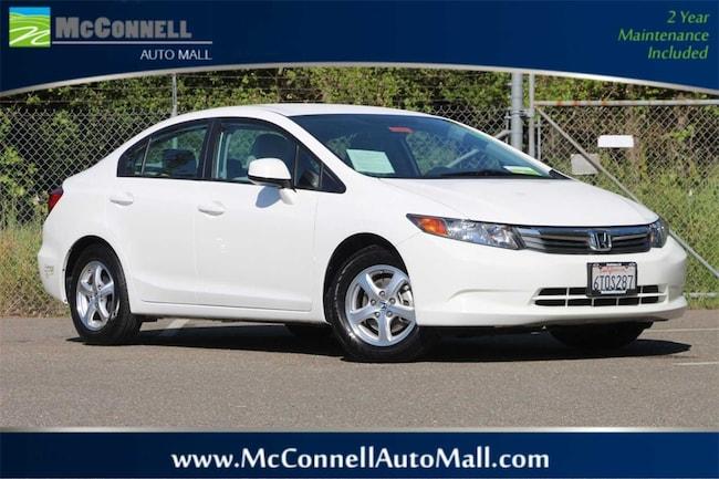 Used 2012 Honda Civic Natural Gas w/Navi Sedan 19XFB5F50CE000094 for sale near Santa Rosa CA