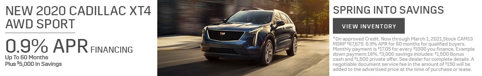 New 2020 Cadillac XT4 AWD Sport
