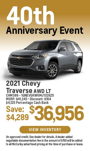 2021 Chevy Traverse Special