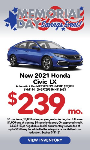 Memorial Day Specials Civic